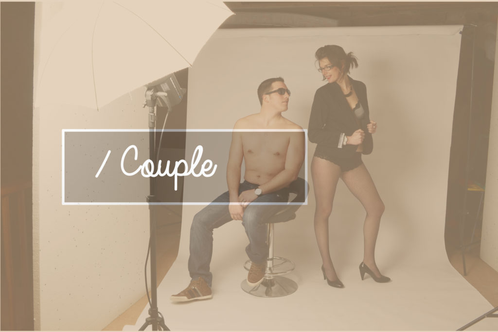 Photographe Evreux séance couple en condition studio